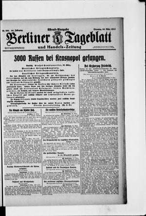 Berliner Tageblatt und Handels-Zeitung on Mar 30, 1915