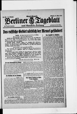 Berliner Tageblatt und Handels-Zeitung vom 31.03.1915