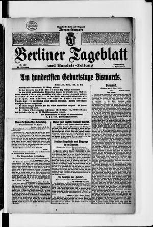 Berliner Tageblatt und Handels-Zeitung vom 01.04.1915