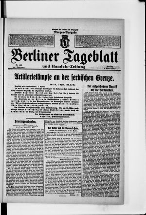 Berliner Tageblatt und Handels-Zeitung vom 02.04.1915