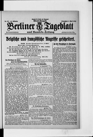 Berliner Tageblatt und Handels-Zeitung vom 03.04.1915