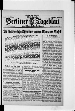 Berliner Tageblatt und Handels-Zeitung vom 06.04.1915