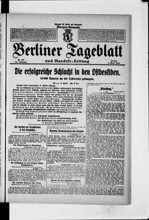 Berliner Tageblatt und Handels-Zeitung vom 09.04.1915