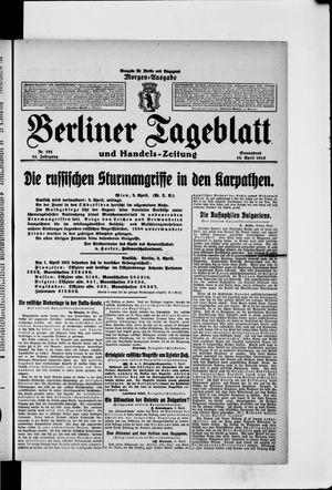 Berliner Tageblatt und Handels-Zeitung vom 10.04.1915