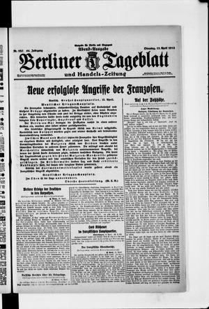 Berliner Tageblatt und Handels-Zeitung on Apr 13, 1915