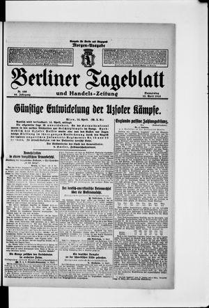 Berliner Tageblatt und Handels-Zeitung vom 15.04.1915