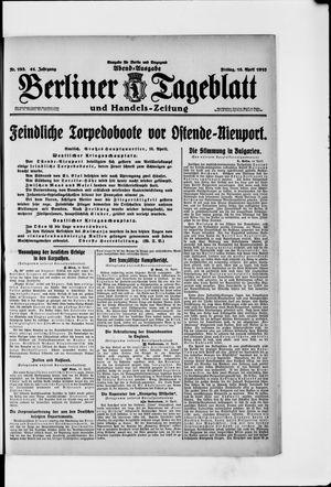 Berliner Tageblatt und Handels-Zeitung vom 16.04.1915