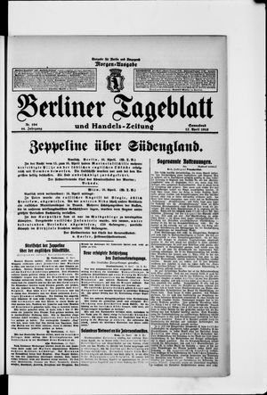 Berliner Tageblatt und Handels-Zeitung vom 17.04.1915