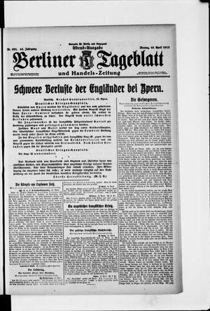 Berliner Tageblatt und Handels-Zeitung vom 19.04.1915