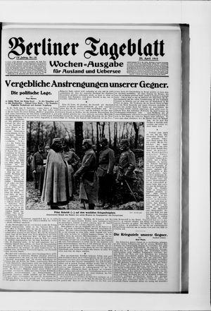Berliner Tageblatt und Handels-Zeitung vom 20.04.1915