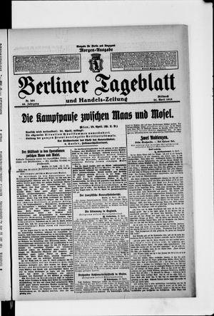 Berliner Tageblatt und Handels-Zeitung vom 21.04.1915