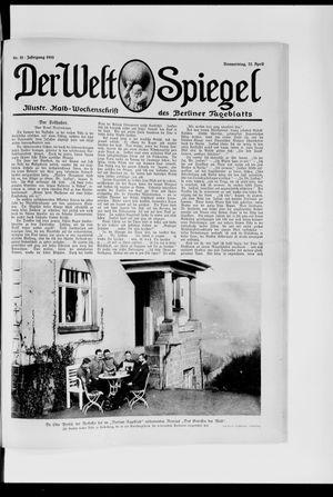 Berliner Tageblatt und Handels-Zeitung vom 22.04.1915