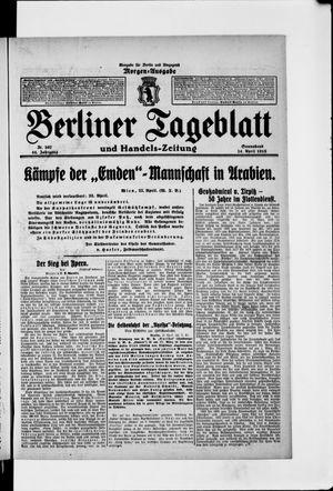 Berliner Tageblatt und Handels-Zeitung vom 24.04.1915