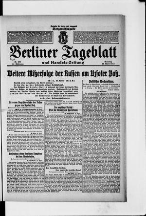 Berliner Tageblatt und Handels-Zeitung vom 25.04.1915