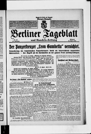 Berliner Tageblatt und Handels-Zeitung vom 28.04.1915