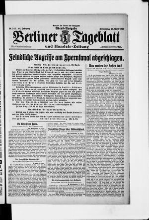Berliner Tageblatt und Handels-Zeitung vom 29.04.1915