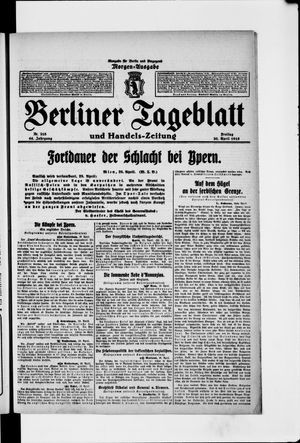 Berliner Tageblatt und Handels-Zeitung vom 30.04.1915
