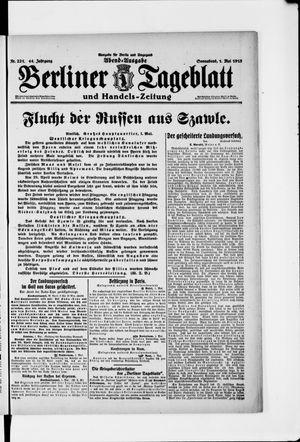 Berliner Tageblatt und Handels-Zeitung vom 01.05.1915