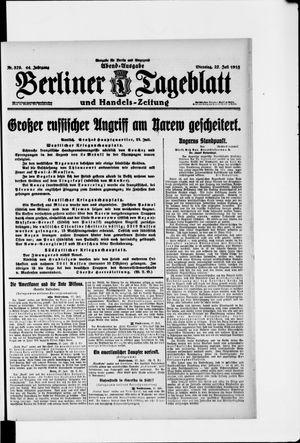 Berliner Tageblatt und Handels-Zeitung vom 27.07.1915