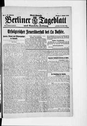 Berliner Tageblatt und Handels-Zeitung vom 03.01.1916