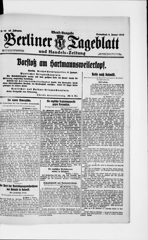 Berliner Tageblatt und Handels-Zeitung vom 08.01.1916