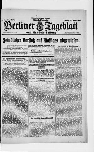 Berliner Tageblatt und Handels-Zeitung vom 11.01.1916