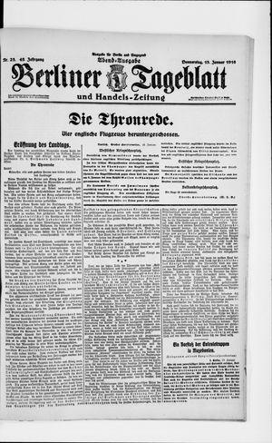 Berliner Tageblatt und Handels-Zeitung vom 13.01.1916
