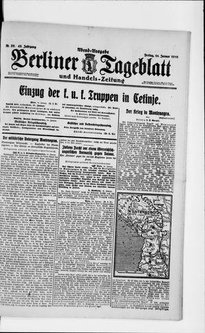 Berliner Tageblatt und Handels-Zeitung vom 14.01.1916