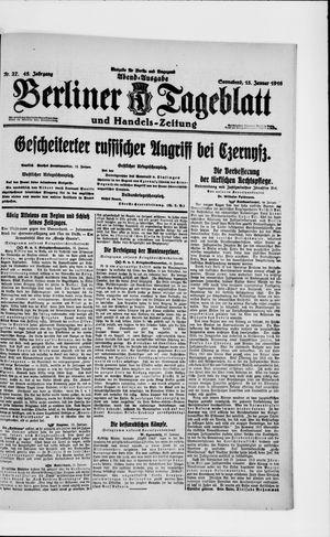 Berliner Tageblatt und Handels-Zeitung vom 15.01.1916