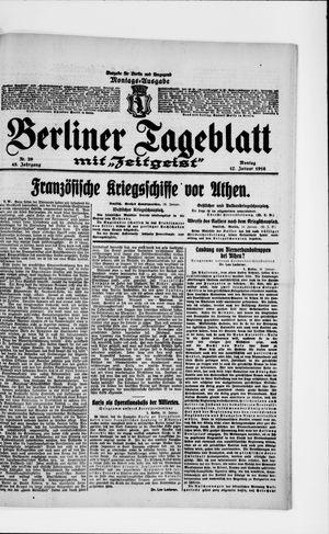 Berliner Tageblatt und Handels-Zeitung on Jan 17, 1916