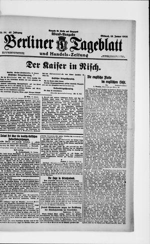 Berliner Tageblatt und Handels-Zeitung vom 19.01.1916