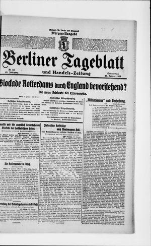 Berliner Tageblatt und Handels-Zeitung vom 20.01.1916