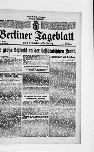 Berliner Tageblatt und Handels-Zeitung on Jan 21, 1916