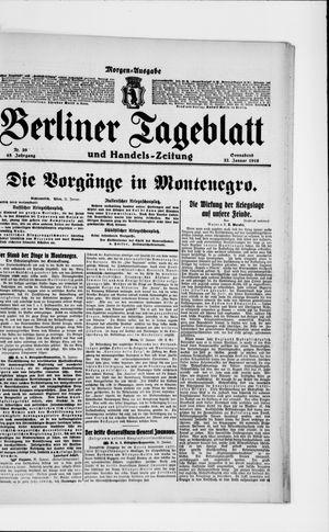 Berliner Tageblatt und Handels-Zeitung vom 22.01.1916