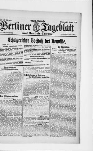 Berliner Tageblatt und Handels-Zeitung vom 25.01.1916