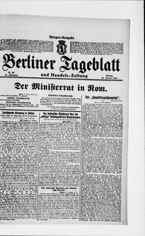 Berliner Tageblatt und Handels-Zeitung vom 28.01.1916