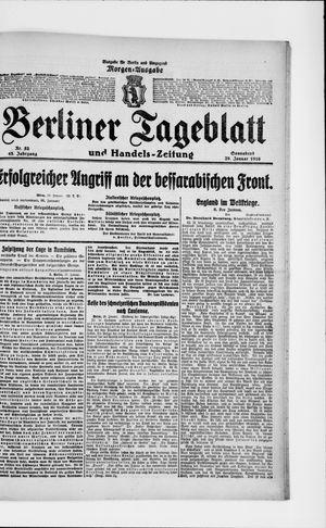 Berliner Tageblatt und Handels-Zeitung on Jan 29, 1916
