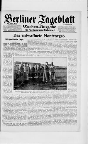 Berliner Tageblatt und Handels-Zeitung vom 01.02.1916