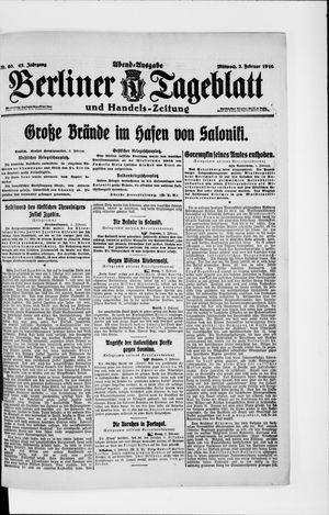 Berliner Tageblatt und Handels-Zeitung vom 02.02.1916