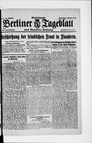Berliner Tageblatt und Handels-Zeitung vom 03.02.1916