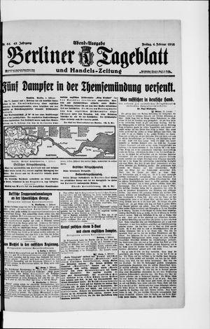 Berliner Tageblatt und Handels-Zeitung vom 04.02.1916