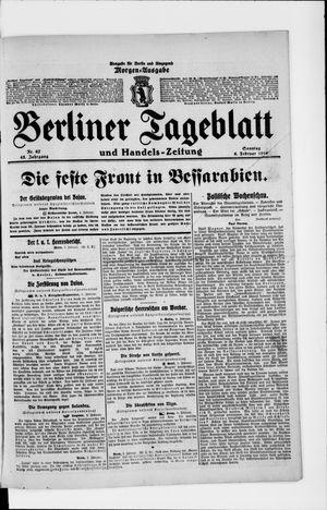 Berliner Tageblatt und Handels-Zeitung vom 06.02.1916