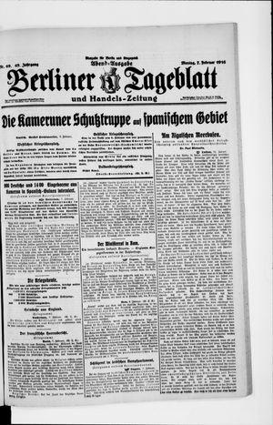 Berliner Tageblatt und Handels-Zeitung vom 07.02.1916