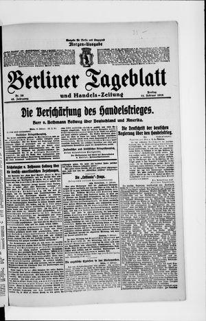 Berliner Tageblatt und Handels-Zeitung vom 11.02.1916