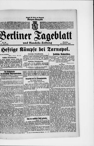 Berliner Tageblatt und Handels-Zeitung vom 13.02.1916