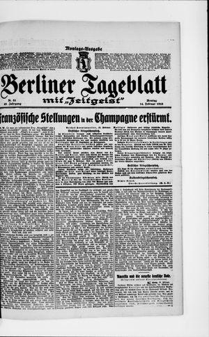 Berliner Tageblatt und Handels-Zeitung vom 14.02.1916