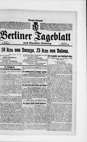 Berliner Tageblatt und Handels-Zeitung on Feb 15, 1916