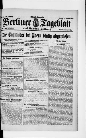 Berliner Tageblatt und Handels-Zeitung vom 18.02.1916
