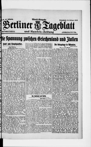 Berliner Tageblatt und Handels-Zeitung vom 19.02.1916