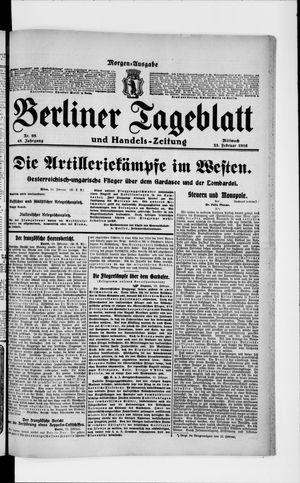 Berliner Tageblatt und Handels-Zeitung on Feb 23, 1916